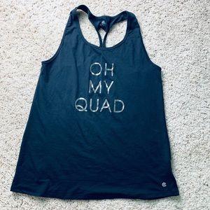 Oh My Quad Dri Fit Razorback Workout Tank Top